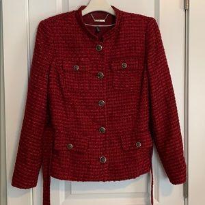 WHBM Red Tweed Jacket